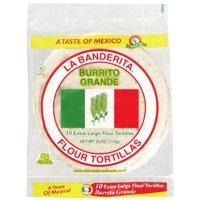 """La Banderita Flour 10"""" Burrito Grande Tortillas, 10 ct"""