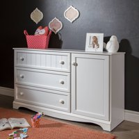 South Shore Savannah 3-Drawer Dresser with Door, Multiple Finishes