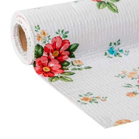 Floral Adhesive - The Pioneer Woman Non-adhesive Shelf Liner - Vintage Floral, 20 in. x 6 ft., 2 pack