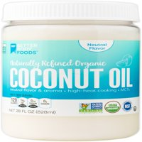 BetterBody Foods Naturally Refined Organic Coconut Oil, 28.0 Fl Oz