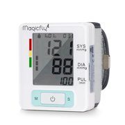Magicfly Wrist Blood Pressure Monitor with Case FDA Approved Heart Zone Guidance Irregular Heartbeat Detector 90 Memory