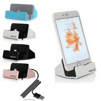 Agoz Desktop Charging Charger Dock Station Cradle Stand Holder Apple iPhone Xs MAX, XS, XR, X, 8 Plus, 8, 7, 7 Plus, 6, 6 Plus, 6S, 6S Plus, 5, 5S, SE, iPad Mini 2, 3, 4, iPod Touch