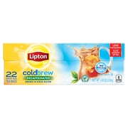 Lipton Cold Brew Decaffeinated tea bags Family Black Iced Tea Unsweetened, 22 ct