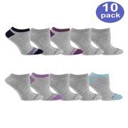 Women's Everyday Soft Flat Knit No Show Socks 10 Pack