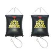 2) NEW 5 Gallon Super Solar Sun Backpacking Camping Outdoor Showers Heats Water