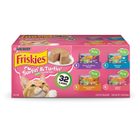 Friskies Pate Wet Cat Food Variety Pack; Surfin' & Turfin' Favorites - (32) 5.5 oz. Cans