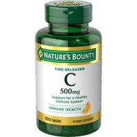 Nature's Bounty Vitamin C Time Released, 500mg Capsules, 100ct