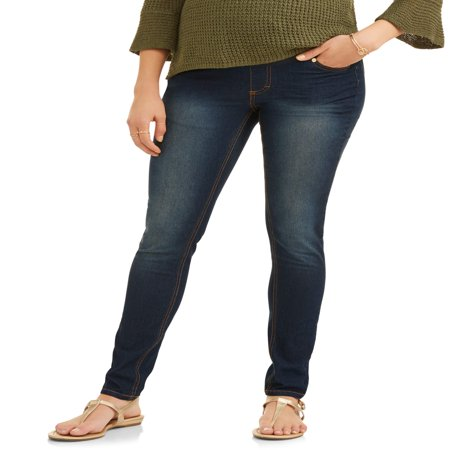 Oh! Mamma Maternity Skinny Jeans with Full Panel - Available in Plus Sizes ()