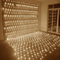 String Lights, 2M x 3M 210 LED Linkable Design Net Mesh Fairy String Light Ideal for Indoor Outdoor Home Garden Christmas Party Wedding