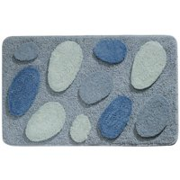 "InterDesign Microfiber Pebblz Bathroom Shower Rug, 34""x 21"""
