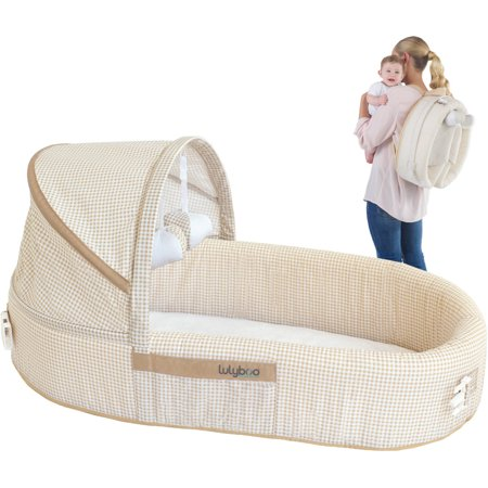 - LulyBoo Baby Lounge To Go Travel Bed, Beige