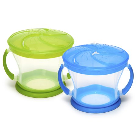 Spill Snack Cup - Munchkin Snack Catcher Snack Cup, Colors May Vary, 2 pack
