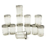 Ball Glass Mason Jar with Lid and Band, Regular Mouth, 8 Ounces, 12 Count