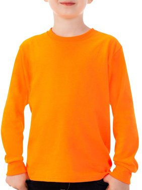 Fruit of the Loom Boys' Long Sleeve Crew T-Shirt with Rib Cuffs