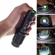 Tuscom 4000LM Zoomable XML T6 LED 5 Modes Police Flashlight Lamp Torch