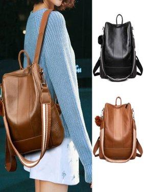 Women´s Fashion Retro Leather Shoulder Bags School Book Travel Handbag Backpacks
