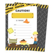 Construction Happy Birthday Invitations Invite Cards 25 Count With Envelopes Seal Stickers Boys