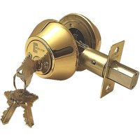 Constructor Deadbolt Door Lock Set with Double Cylinder Polished Brass Finish