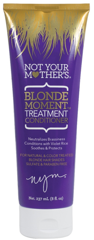 Not Your Mother's Blonde Moment Treatment Purple Conditioner, 8 (Shampoo And Conditioner For Blonde Highlighted Hair)