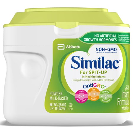 Similac for Spit Up Non-GMO Infant Formula with Iron Baby Formula 1.41 lb (Earths Best Organic Infant Powder Formula With Iron)