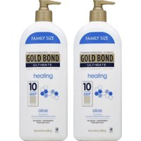 (2 Pack) Gold Bond Ultimate Healing Skin Therapy Lotion with aloe, 20oz