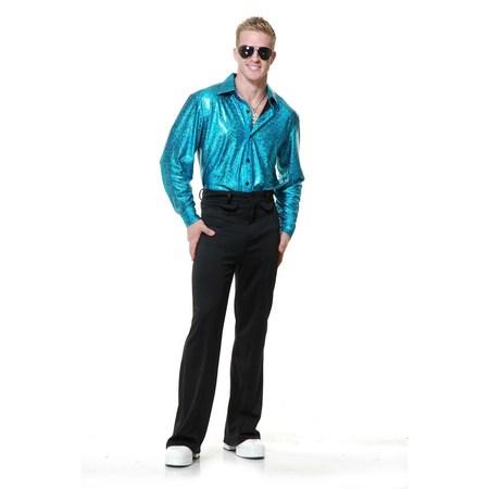 Halloween Crocodile Skin Disco Shirt - Turquoise - Crocodile Costume Diy