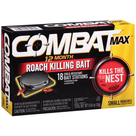 Combat Max Small Roaches 12 Month Roach Killing Bait Stations 18 ct (Small Max Pack)