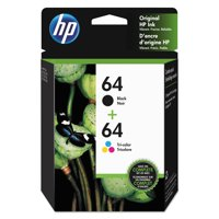 HP 64 Black and Tri-color High Yield Original Ink Cartridges