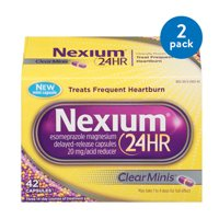 (2 Pack) Nexium 24HR ClearMinis (20mg, 42 Count) Delayed Release Heartburn Relief Capsules, Esomeprazole Magnesium Acid Reducer