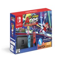 Nintendo Switch System, Neon Blue & Neon Red with Mario Tennis Aces & 1-2-Switch, HACSKABW1