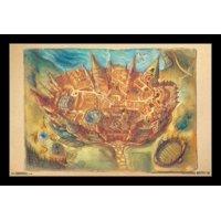 Harry Potter - Hogwarts Map Poster Print