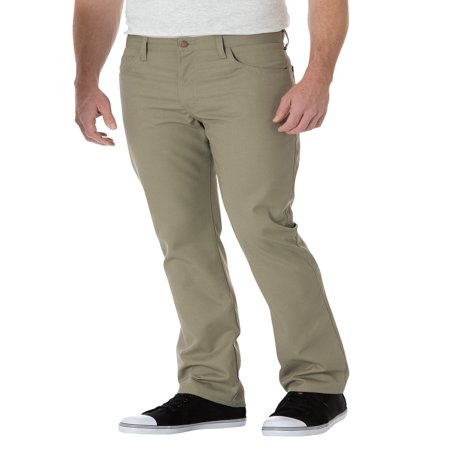- Dickies Men's Slim Straight 5-Pocket Twill Work Pants