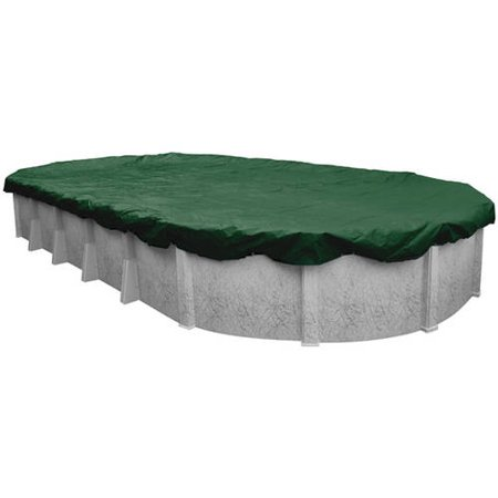 - Robelle 12-Year Extra Heavy-Duty Oval Winter Pool Cover