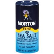 (4 Pack) Morton Fine Mediterranean Sea Salt, 4.4 oz