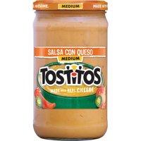 (2 Pack) Tostitos Brand Dips & Salsas Medium Salsa Con Queso, 23 oz