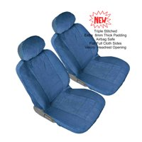 4pc Front 2 US Automotive Grade Bucket Blue Universal Fit Seat Cover for TOYOTA TACOMA