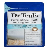 (2 pack) Dr Teal's Pure Epsom Salt Soaking Solution, 3 lbs
