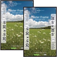 Mainstays 20x30 Basic Poster and Picture Frame, Black, Set of 2