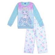 Disney Little Girls Blue Elsa Snowflake Frozen Print 2 Pc Pajama Set 4 7c064abe6