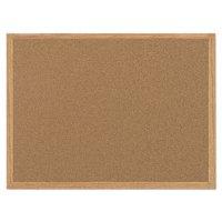MasterVision Value Cork Bulletin Board with Oak Frame, 24 x 36, Natural