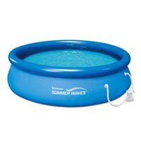 "Summer Waves 10' x 30"" Quick Set Inflatable Above Ground Pool with Filter Pump, Blue"