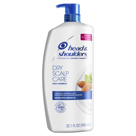 Head and Shoulders Dry Scalp Care Daily-Use Anti-Dandruff Shampoo, 32.1 fl oz (Head & Shoulders Zinc Shampoo)
