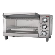 BLACK+DECKER 4-Slice Toaster Oven, Easy Controls, Stainless Steel, TO1760SS