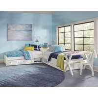 Hillsdale Pulse L-Shaped Twin Bed with Double Storage, Multiple Colors