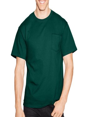 Big Men's Tagless Short Sleeve Pocket T-shirt