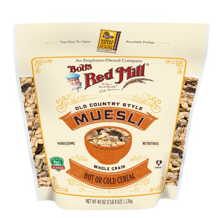 Bobs Red Mill Muesli, Old Country Style Cereal, 40 Oz ()