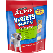 ALPO Variety Snaps Little Bites Dog Treats With Beef Chicken Liver & Lamb Flavors Dog Treats - 60 oz. Pouch
