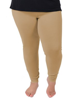 Women's Cotton Leggings - X-Large Adult (12-14) / Beige