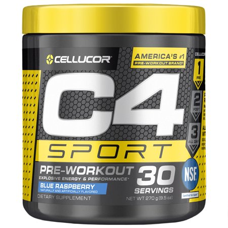 Cellucor C4 Sport Pre Workout Energy Powder, Blue Raspberry, 30 Servings -  Walmart.com c4122e776f