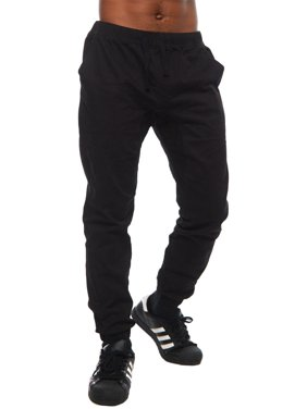 Code One Mens Fashion Hip Hop Tapered Slim Fit Jogger Pants COJ-61-S-Black